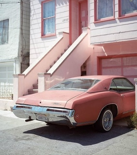 car and pink