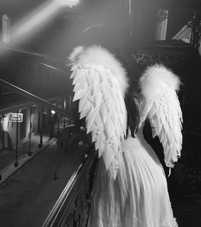 angel, black and white and cute