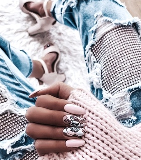jeans, nails and jumper