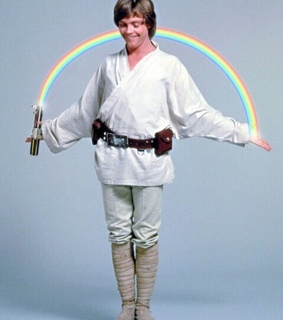 star wars, rainbow and luke skywalker