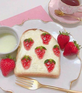 cute, tea and loaf bread
