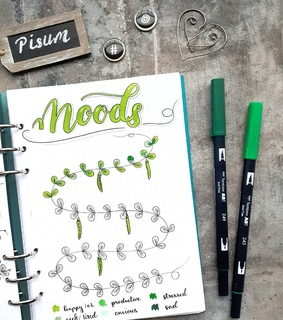 mood, tracker and bujo