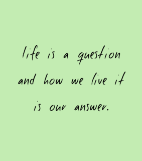 live, life and answer