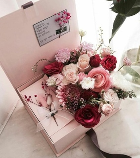 rose, beauty and box