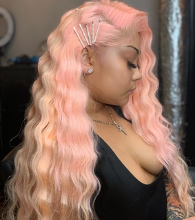 pink, pretty and hair