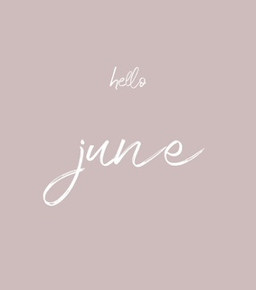 june, summer and hello