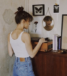 vintage, record player and indie