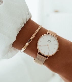 gold, white and watch