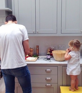 cooking, cute and dad