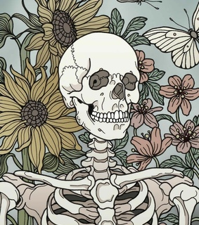 aesthetic, bones and colors