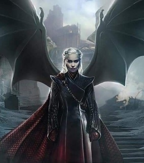 daenerys targaryen, dragon and dragon queen