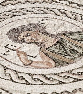 mosaic, mythology and architecture