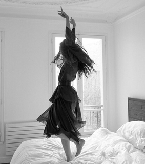 dancing, robe and bed