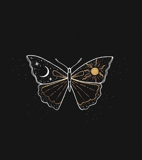 art, butterfly and drawing