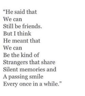 strangers, memories and kind