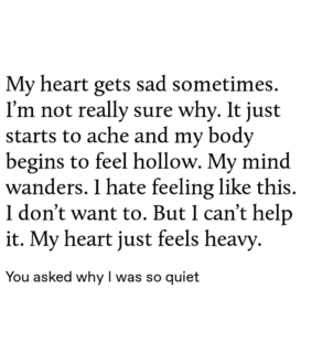 heavy heart, hollow and lonely