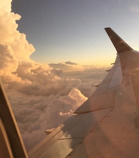 flight, plane and clouds