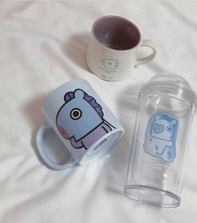 aesthetic, blue and bt21