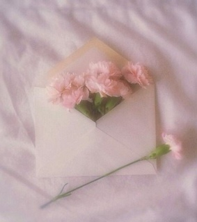 Letter, aesthetic and flowers