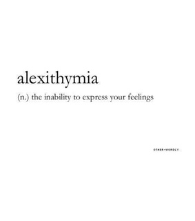 beautiful words, alexithymia and words