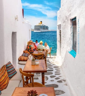 Greece, cafe and photography