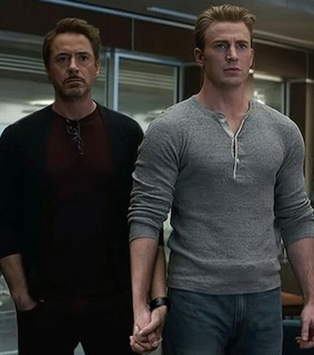 robert downey jr, steve rogers and end game