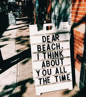 beach, ????? and quote