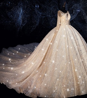 tulle wedding gown, glitter tulle and bridal