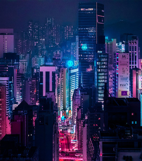 outrun, japan city and retro city