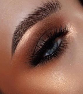 makeup, brown eyeshadow and shadow