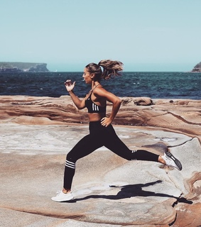 girl, running and fitness