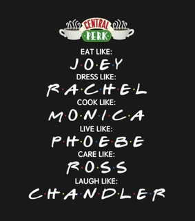 Joey, central perk and chandler