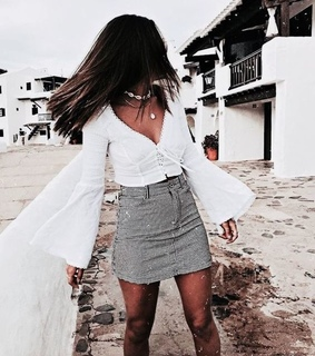 neclace, jewerly and skirt