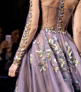 paris fashion week, embroidery and princess