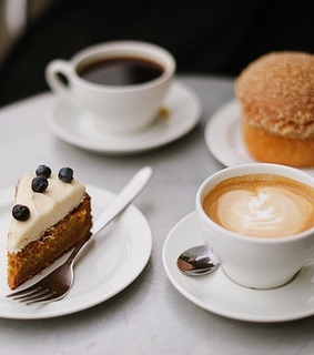 coffee, cake and pastry