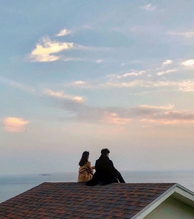 love, sky and view