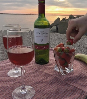 strawberry, photography and sunset