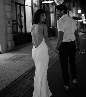 b&w, street and cute couple