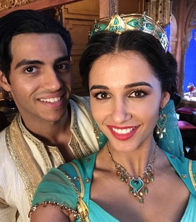 aladdin, naomi scott and mena massoud