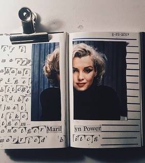 model, journals and notebook