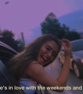 brunette hair, car and freedom