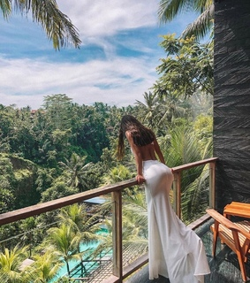 dress, white and travel