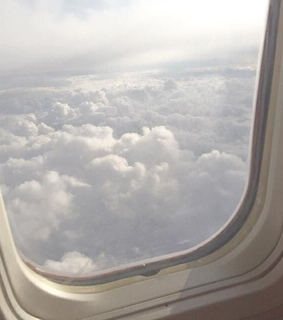 trip, plane and cloud
