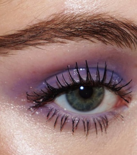 purple, pale and makeup
