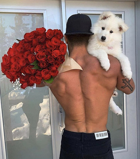 muscles, roses and male