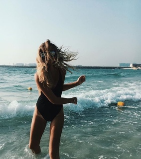 girl, ocean and fun
