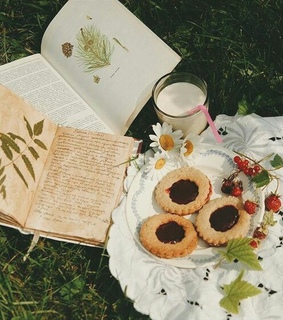 flower, book and pressed