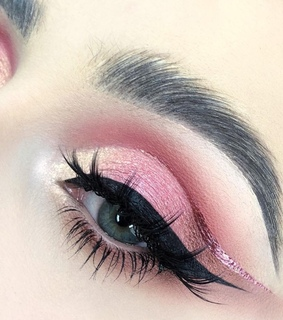 pink makeup, makeup and eye