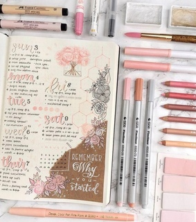 articles, bullet journal and colors