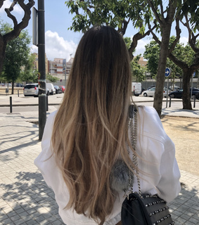 balayage, blondie and cute